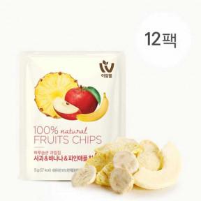 하루습관과일칩 사과&바나나&파인애플(12팩)