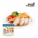 맛있닭 닭가슴살 프로틴 훈제 혼합구성 1kg (훈제 3팩+카레 3팩+칠리 4팩)