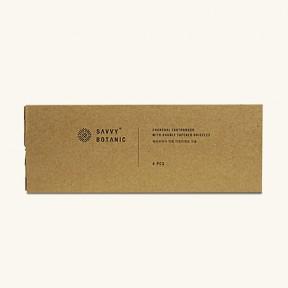 쎄비보타닉 차콜 이중미세모 칫솔 4팩 세트