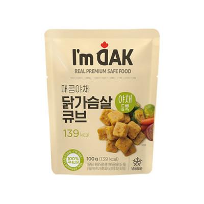 매콤야채 닭가슴살 큐브(12팩)