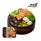 맛있닭 더담은 닭가슴살 도시락 스테이크 고추+야채현미밥(5팩)