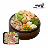 맛있닭 더담은 닭가슴살 도시락 큐브 마늘+연근우엉밥(5팩)