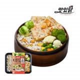 맛있닭 더담은 닭가슴살 도시락 스테이크 갈릭+퀴노아영양밥(5팩)
