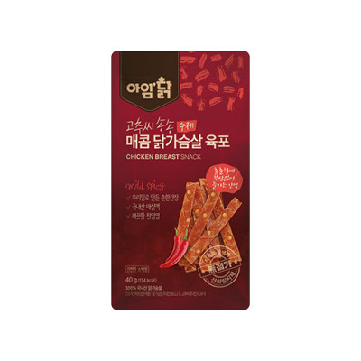 매콤 닭가슴살 육포 40g(12팩)