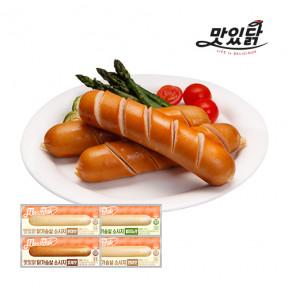맛있닭 닭가슴살 소시지 혼합구성 1kg(훈제 3팩+할라피뇨 3팩+현미 2팩+견과 2팩)
