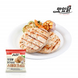 맛있닭 닭가슴살 스테이크 갈릭맛 1kg (100gX10팩)