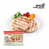 맛있닭 닭가슴살 스테이크 혼합구성 1kg(오리지널 3팩+호박 2팩+고추 2팩+갈릭 3팩)